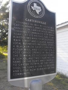 Carter/Cartersville, TX Historical Marker